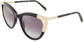 Balmain Gradient Acetate/Metal Cat-Eye Sunglasses