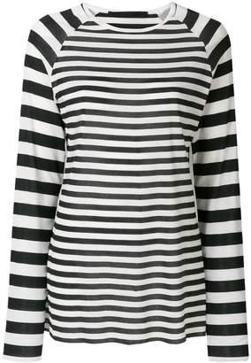 Haider Ackermann long sleeve stripe t shirt