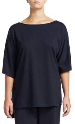 Lafayette 148 New York Lafayette 148 New York, Plus Size Lightweight Punto Milano Wendy Top
