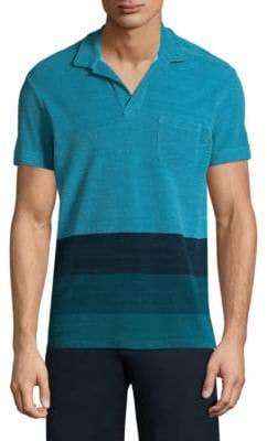Orlebar Brown Colorblock Cotton Polo