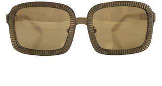 Alexander Wang C1 Antique Brass Rectangle Sunglasses