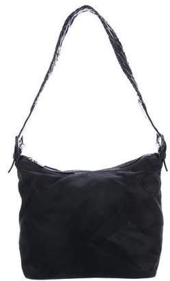 Prada Leather-Trimmed Tessuto Hobo