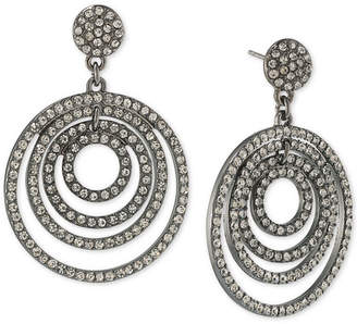 ABS by Allen Schwartz Pavé Orbital Drop Hoop Earrings