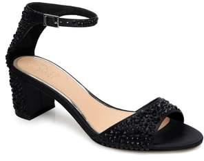 Badgley Mischka Crystal Block Heel Sandal