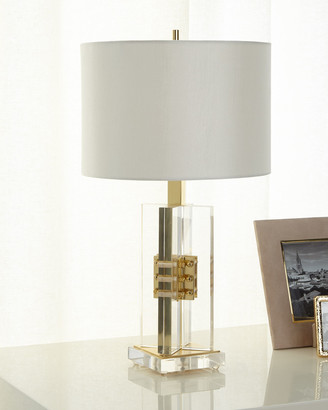 John-Richard Collection John Richard Collection Brass and Acrylic Table Lamp