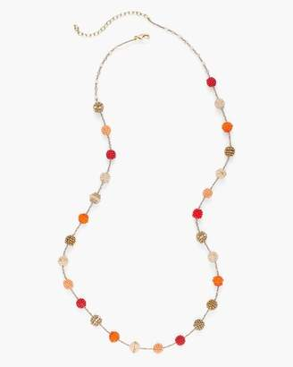 Warm Single-Strand Seed Bead Necklace