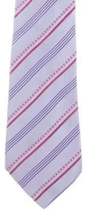 Chanel Striped CC Tie