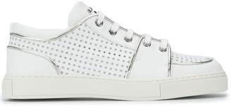 Balmain punch hole detail sneakers