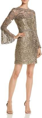 Tadashi Shoji Bell-Sleeve Lace Dress