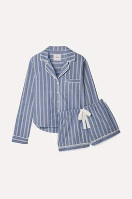596f60134d4b51 Rails Striped Poplin Pajama Set - Blue