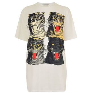 Gucci Tiger Face Crew Neck T Shirt