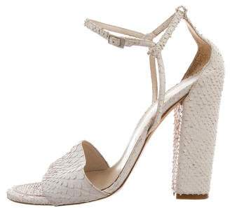 Christian Dior Embossed Ankle-Strap Sandals