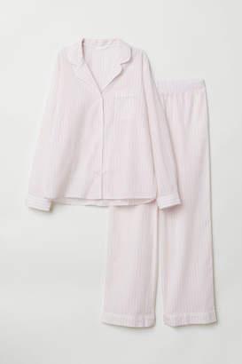 H&M Pajama Shirt and Pants - Pink