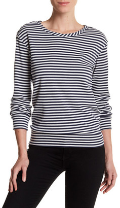 Melrose and Market Stripe Keyhole Tee $24.97 thestylecure.com
