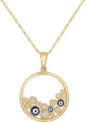 Fine Jewellery 10K Gold Evil Eye Pendant Chain Necklace