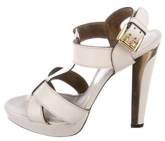 Barbara Bui L eather T-Strap Sandals