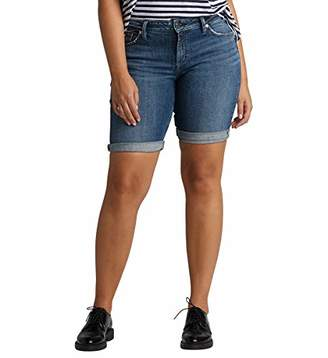 Silver Jeans Co. Women's Elyse Relaxed Fit Mid Rise Bermuda Short