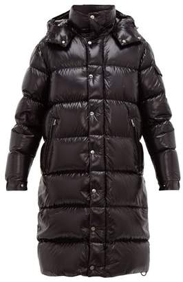 Moncler Hanoverian Hooded Quilted Down Coat - Mens - Black
