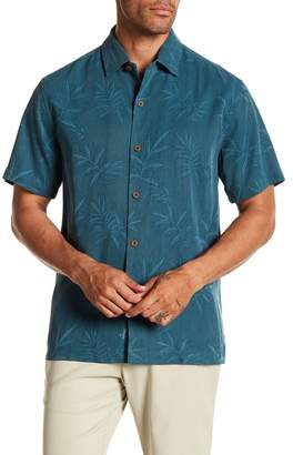 Tommy Bahama Luau Floral Short Sleeve Original Fit Silk Shirt