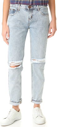 One Teaspoon Blue Malt Awesome Baggy Jeans $149 thestylecure.com