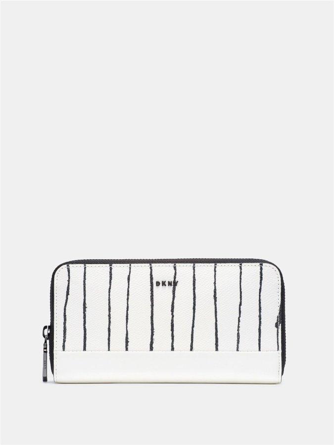 DKNYSaffiano Twine Stripe Large Zip Around Wallet