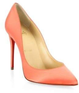 christian louboutin pigalle follies 100 printed satin pumps