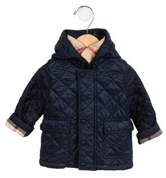 Burberry Boys' Quilted Hooded Jacket