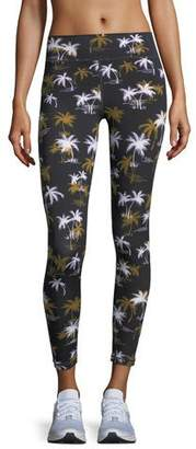 The Upside Acapulco Palm-Tree Print Ankle Leggings