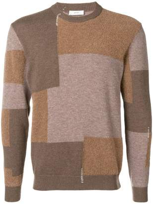 Mauro Grifoni colour-block fitted sweater