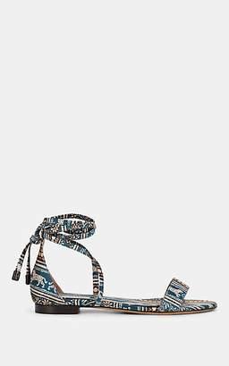 Tabitha Simmons Women's Nellie Batik-Print Satin Sandals - Bcspdbf