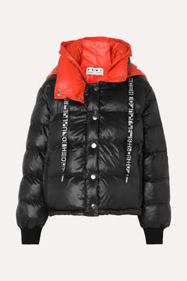Proenza Schouler Pswl Reversible Hooded Quilted-shell Jacket - Black