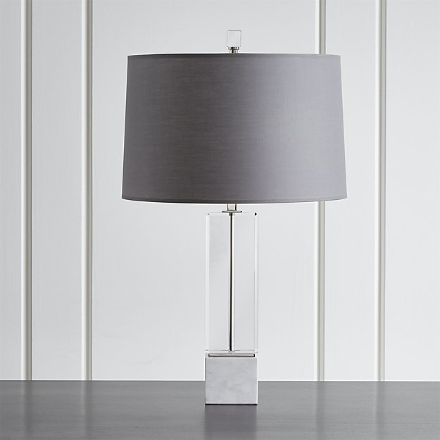 Crate & Barrel Campbell Crystal Table Lamp