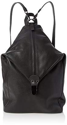 Rokka Alce Nero, Womens Backpack Handbag, Schwarz (Nero), 45x13x27 cm (B x H T) Lilimill