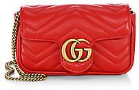 Gucci Women's GG Marmont Matelassé Leather Mini Chain Camera Bag