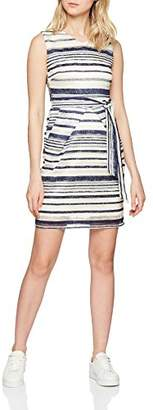 Yumi Women's Lace Stripe Dress, White (Cream)