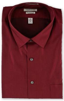 Van Heusen Mens Herringbone Button Up Dress Shirt
