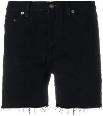Saint Laurent baggy denim shorts