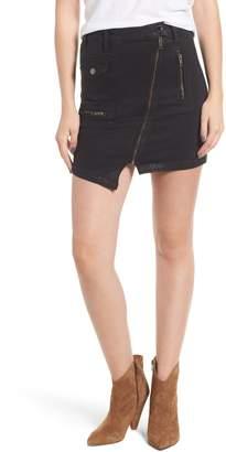 Hudson Jeans High Waist Moto Denim Miniskirt