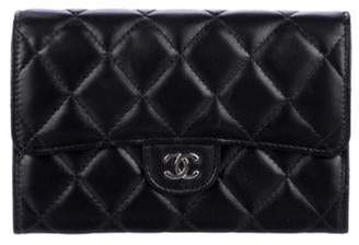 Chanel Quilted Small Flap Wallet Black Quilted Small Flap Wallet