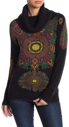 Desigual Helena Cowl Neck Printed Sweater