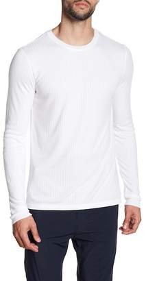 Vince Ribbed Knit Long Sleeve Tee