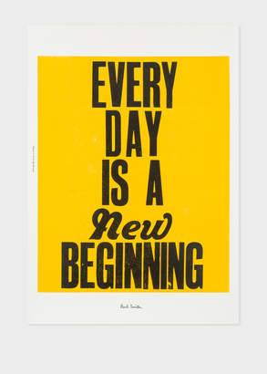 Paul Smith Two Pipe Problem Letterpress For 'Everyday Is A New Beginning' Print
