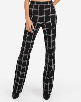 Express High Waisted Windowpane Wide Leg Pant