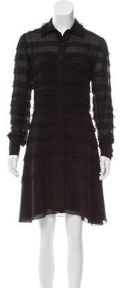 Christian Dior Lace Paneled Mini Dress