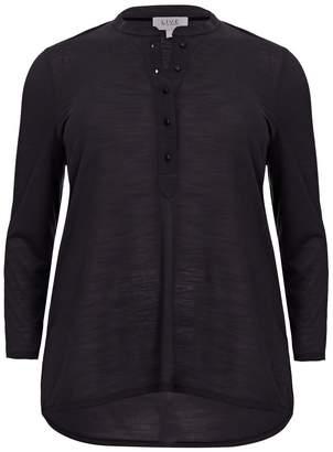 Live Unlimited Womens Black Slub Jersey Shirt - Black