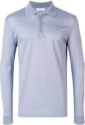 Boglioli long sleeve polo shirt