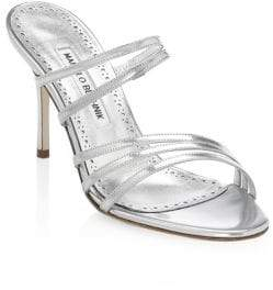 046dba69d13 Manolo Blahnik Andena Strappy Patent Leather Sandals