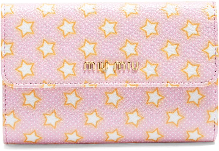 Miu Miu MIU MIU Star-print leather zip-around wallet