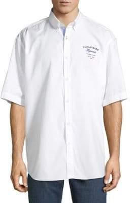 Paul & Shark Embroidered Cotton Button-Down Shirt
