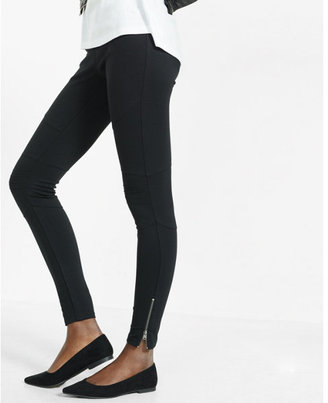 Express ponte knit moto zip legging $59.90 thestylecure.com